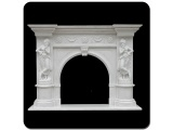 Natural China White Marble Fireplace